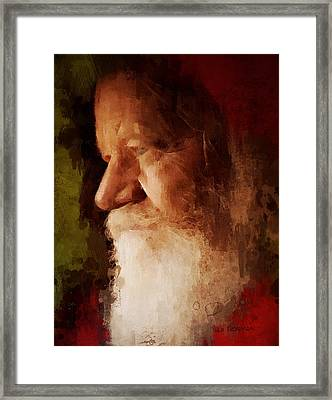 Santa Framed Print by Lisa Noneman