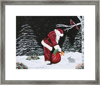 Santa Loves All Creatures Framed Print