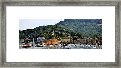 Framed Print featuring the photograph Santa Margherita Ligure by Corinne Rhode