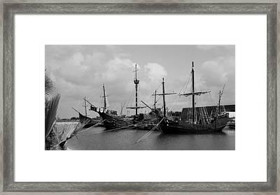 Santa Maria - Pinta - Nina Framed Print