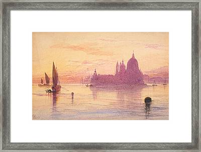 Santa Maria Della Salute Framed Print by Edward Lear