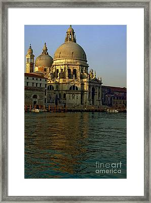 Santa Maria Della Salute In Venice In Morning Light Framed Print by Michael Henderson