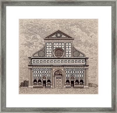 Santa Maria Novella Cathedral, Florence, Italy Framed Print