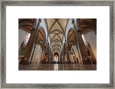 Santa Maria Novella Church Framed Print by Davide Guidolin