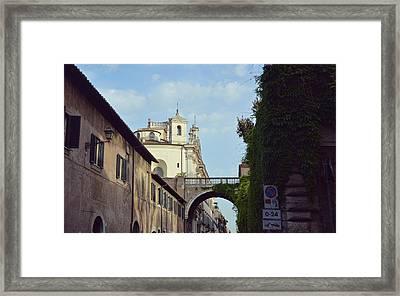 Santa Maria On Via Guilia Framed Print by JAMART Photography