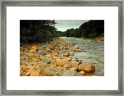 Santa Maria River Framed Print by Iris Greenwell
