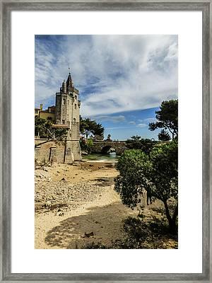 Santa Marta Beach In Cascais, Portugal Framed Print