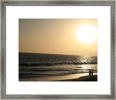 Santa Monica At Sunset Framed Print by Aimee Galicia Torres