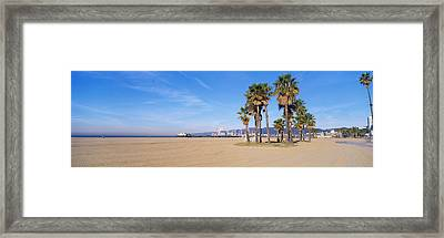 Santa Monica Beach Ca Framed Print