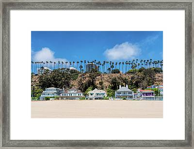 Santa Monica Beach Front Framed Print