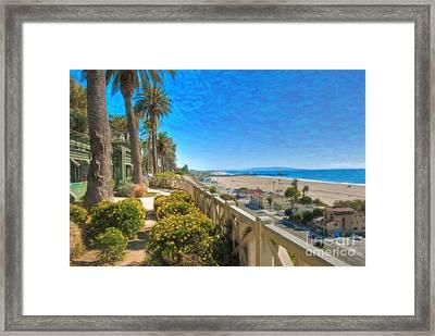 Santa Monica Ca Palisades Park Bluffs Gold Coast Luxury Houses Framed Print