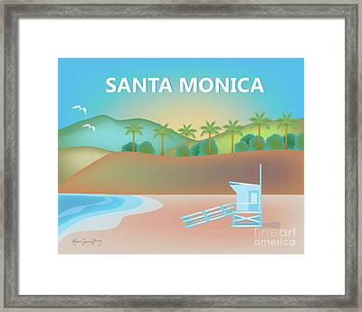 Santa Monica California Horizontal Scene Framed Print