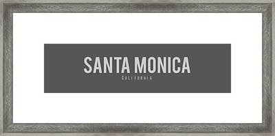 Santa Monica California Framed Print