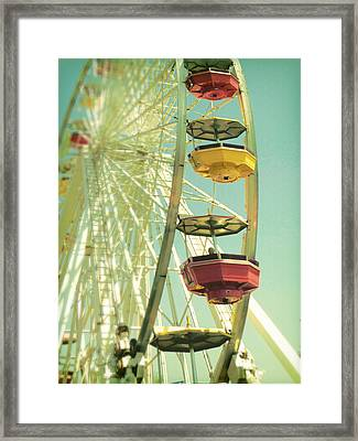 Framed Print featuring the photograph Santa Monica Ferris Wheel by Douglas MooreZart