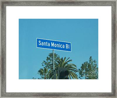Santa Monica Framed Print by Sacred  Muse
