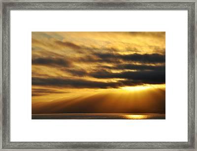 Framed Print featuring the photograph Santa Monica Golden Hour by Kyle Hanson