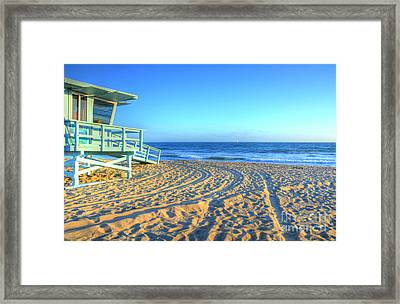 Santa Monica Lifeguard Framed Print by Kelly Wade