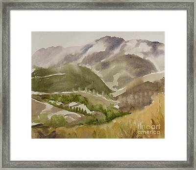 Santa Monica Mountains California Framed Print