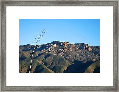 Framed Print featuring the photograph Santa Monica Mountains View  by Matt Harang