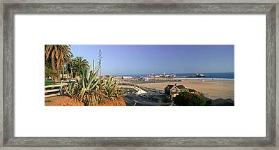 Santa Monica, Overlooking The Beach Framed Print by Panoramic Images