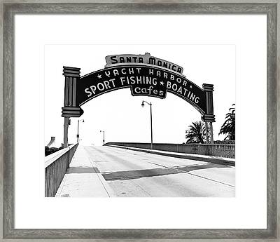Santa Monica Pier Arch Framed Print by Joe  Palermo