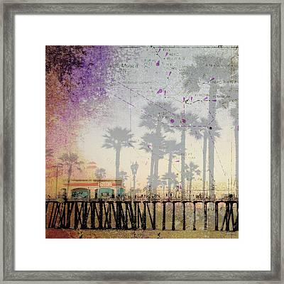 Santa Monica Pier Framed Print by Brandi Fitzgerald
