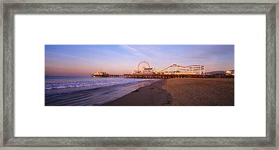 Santa Monica Pier, California, Usa Framed Print