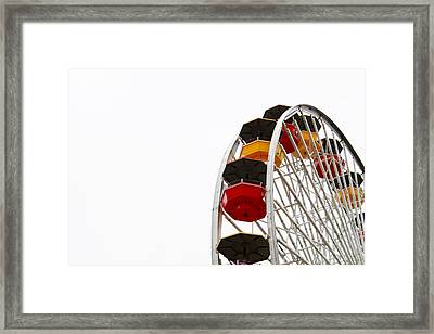 Santa Monica Pier Ferris Wheel- By Linda Woods Framed Print