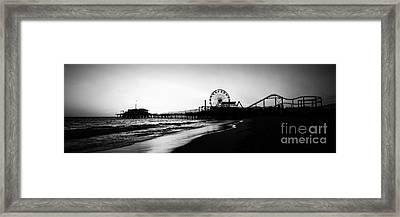 Santa Monica Pier Panorama Photo Framed Print by Paul Velgos