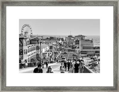 Santa Monica Pier Framed Print by Ricky Barnard