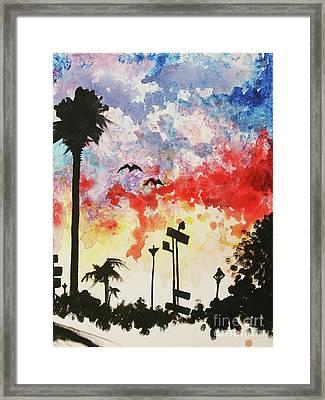 Santa Monica Pier - Right Side One Of Three Framed Print by Ashlynn Apffel