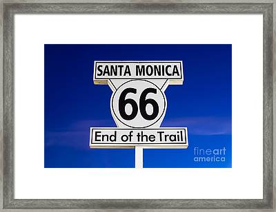 Santa Monica Route 66 Sign Framed Print