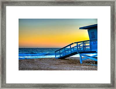 Santa Monica Sunset Framed Print by Kelly Wade