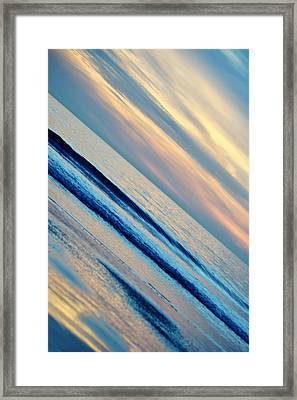 Framed Print featuring the photograph Santa Monica Sunset by Kyle Hanson