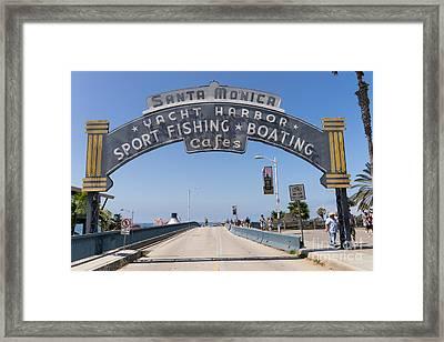 Santa Monica Yacht Harbor At Santa Monica Pier In Santa Monica California Dsc3665 Framed Print by Wingsdomain Art and Photography