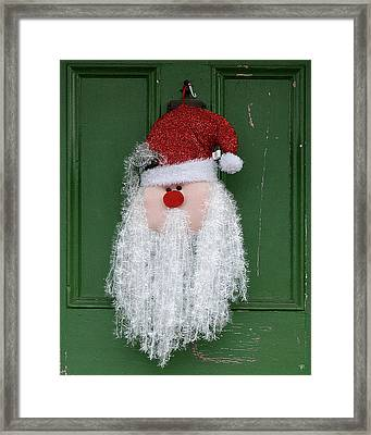 Santa On Henry Street Framed Print