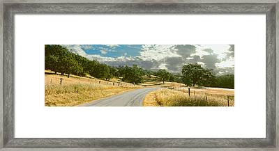 Santa Rosa Creek Road Passing Framed Print by Panoramic Images