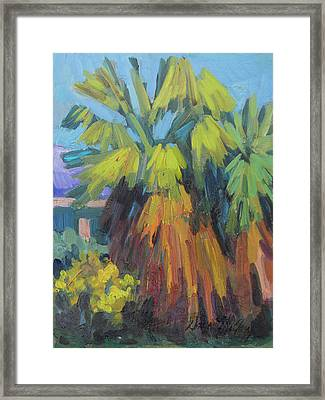 Santa Rosa Visitors Center Palms Framed Print by Diane McClary