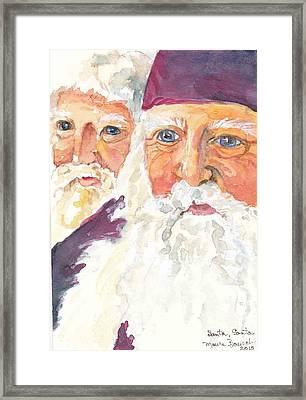 Santa Santa Framed Print by P Maure Bausch