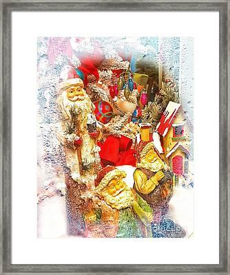 Santa Scene 1 Framed Print