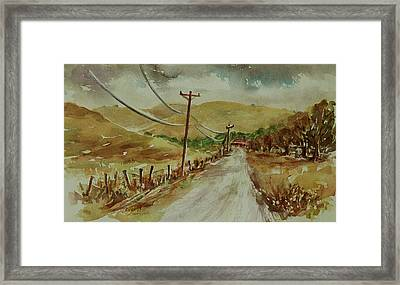 Framed Print featuring the painting Santa Teresa County Park California Landscape 3 by Xueling Zou