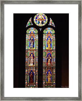 Santa Trinita Stained Glass Framed Print by Ginger Repke