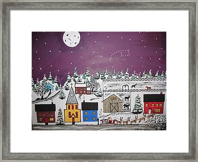 Santa Under The Little Dipper Framed Print by Jeffrey Koss