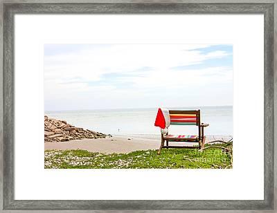 Santa Vacation Framed Print by Sandy Adams