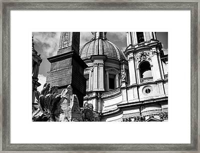 Sant'agnese In Agone Framed Print by John Rizzuto