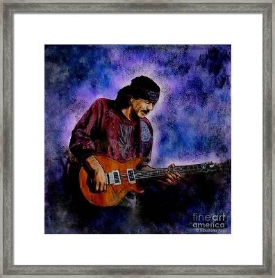 Santana Framed Print by Betta Artusi