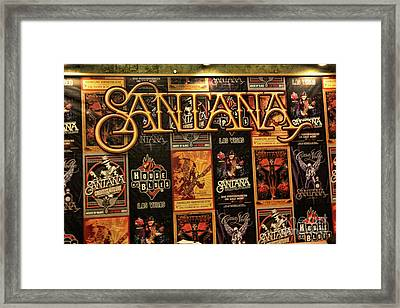 Santana House Of Blues Framed Print by Chuck Kuhn