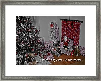 Santas Almost Here Quote Framed Print by JAMART Photography