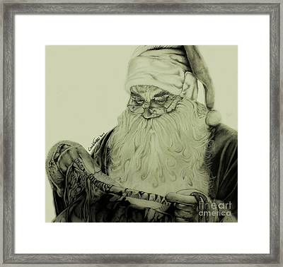 Santa's Christmas Magic Framed Print