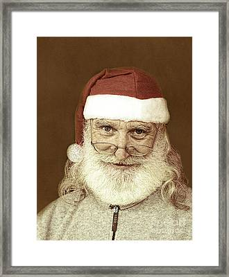 Santa's Day Off Framed Print by Linda Phelps